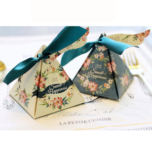 Hot Selling Favor Candy Paper Box Wholesale Sweet Wedding Gift Boxes for Candy