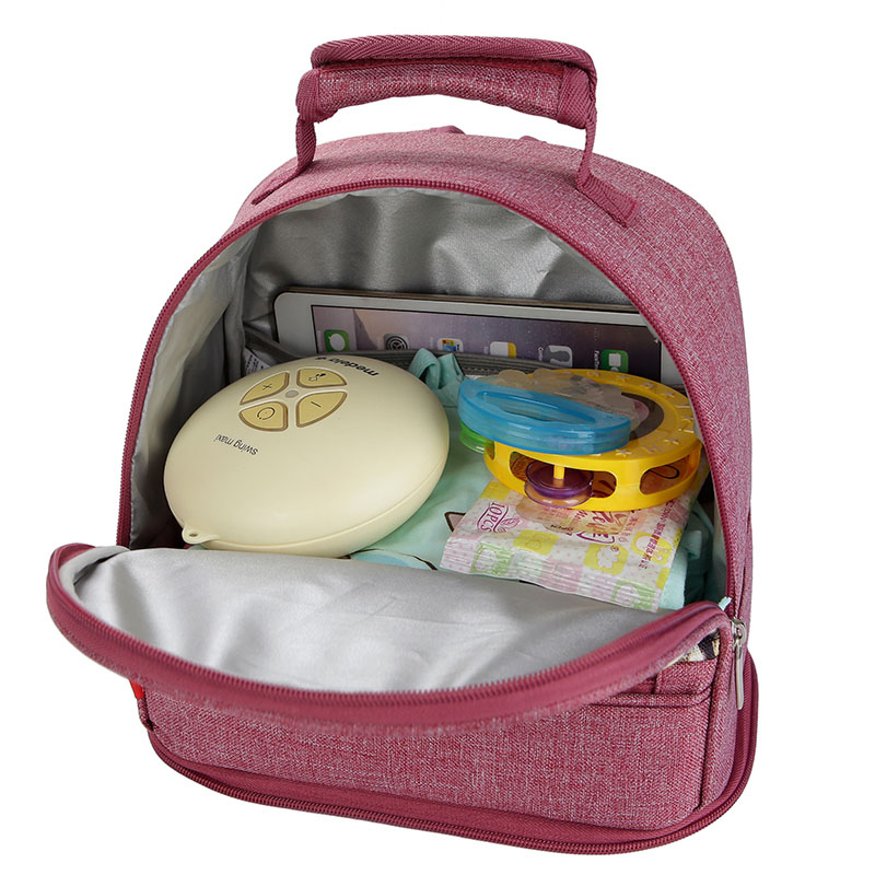 2-in-1 backpack cooler with insulated base compartment for mom Double layer removable mother back milk bag