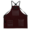 Heavy duty waxed canvas leather apron, Customized waterproof butcher aprons with leather