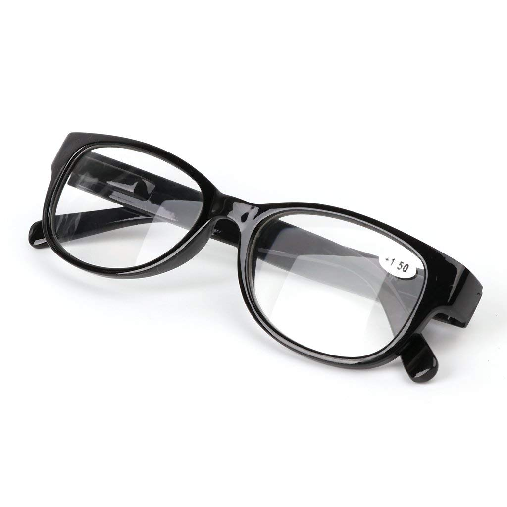 efdc7ae6eb4 Yeahii Unisex Spring Hinge Square Reading Glasses Presbyopic Eyeglasses  +1.0 -4.0 (+2.00