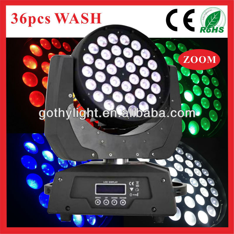 36x10w Zoom Wash Rgbw Moving Head Led Stage Lighting/led Wall ...