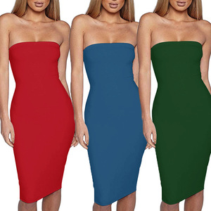Off-the-shoulder summer dresses women's wear a variety of colors sexy beach skintight dresses 2018 new fashion slim elegant dres