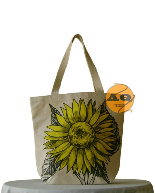 "Designer Tote Bag ""Hope"" Made from heavy canvas"