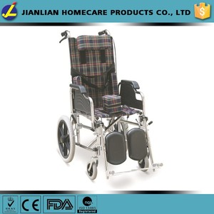Reclining Wheelchair With Flip Back Armrests, Detachable & Elevating Footrests, MAG-Style Wheels