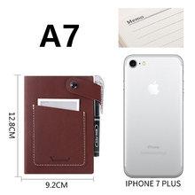 Записная книжка A7, кожаный портативный органайзер, записывающая книжка, записная книжка, школьные принадлежности, Офисная карта, карманные ...(Китай)