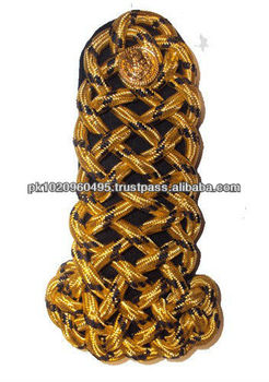 British Military Corded Shoulder Boards | Army Corded Shoulder Boards |  Gold Corded Shoulder Boards | Officer Ranks Shoulders - Buy Military  Uniform