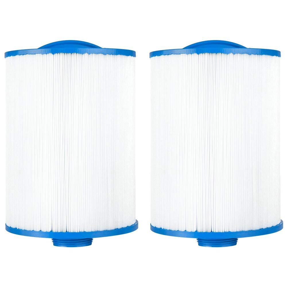"Clear Choice CCP129 Pool Spa Replacement Cartridge Filter for Sunrise Spa Filter Media, 6"" Dia x 8"" Long, [2-Pack]"