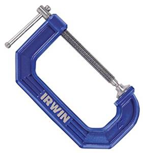 "3 Pack Irwin 225102 Quick-Grip 2"" C-Clamp - 1-5/16"" Depth"
