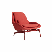 Modern Design Comfortable Fabric Lounge Chair Hotel Metal Living Room Chair