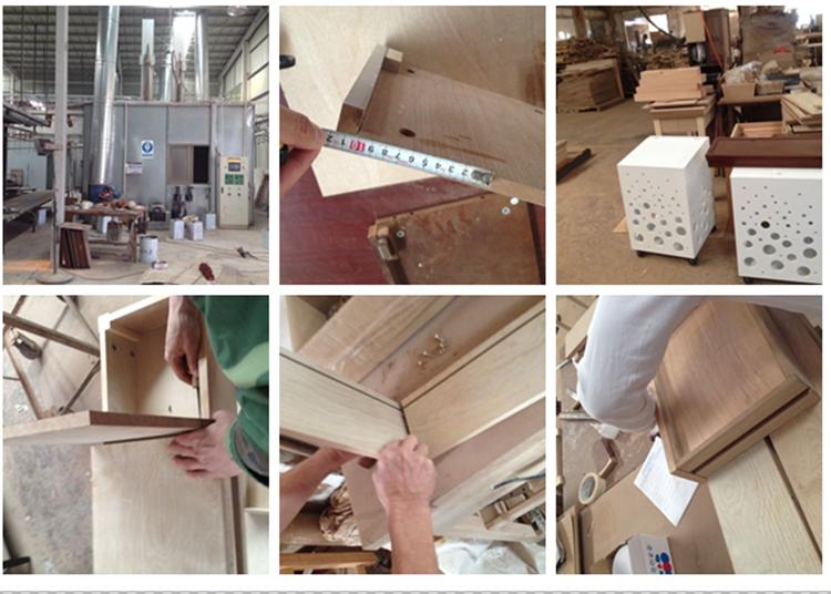 Uitstekend Trolley Keuken : Mobiele hout keuken voedsel trolley rubber hout keuken trolley