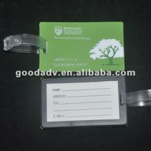 2012 Made in China promotional items soft pvc bag name tag