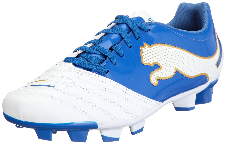 de6b6f386 Get Quotations · PUMA PowerCat 4.12 FG Firm Ground Mens Soccer Boot White/  Royal
