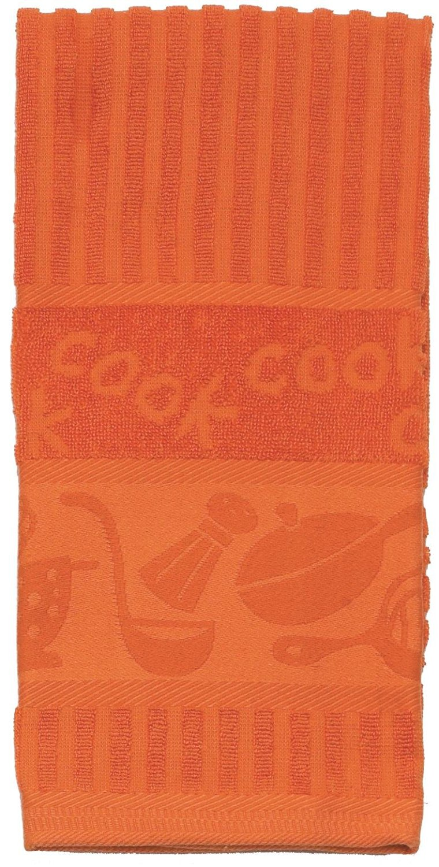 Kay Dee Designs Cook Jacquard Cotton Terry Towel, Orange