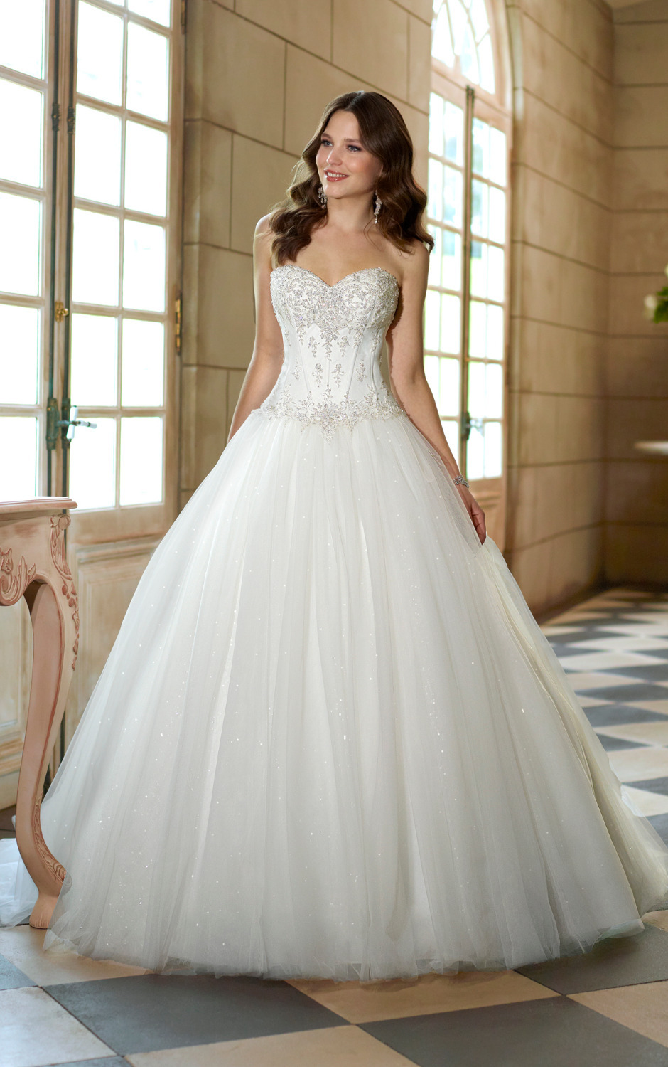 Princess Wedding Gown: 2014-Sweetheart-Beaded-Lace-Sparkle-Ball-Gown-Princess