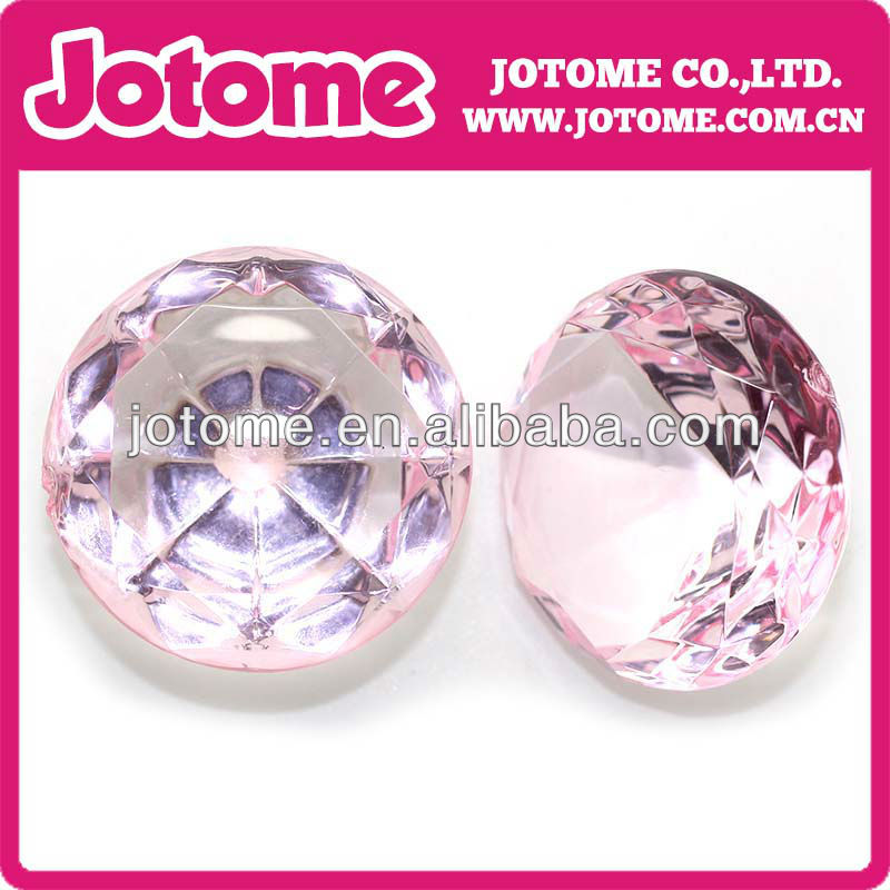 pink acrylic rhinestone for clothes/napkin rings