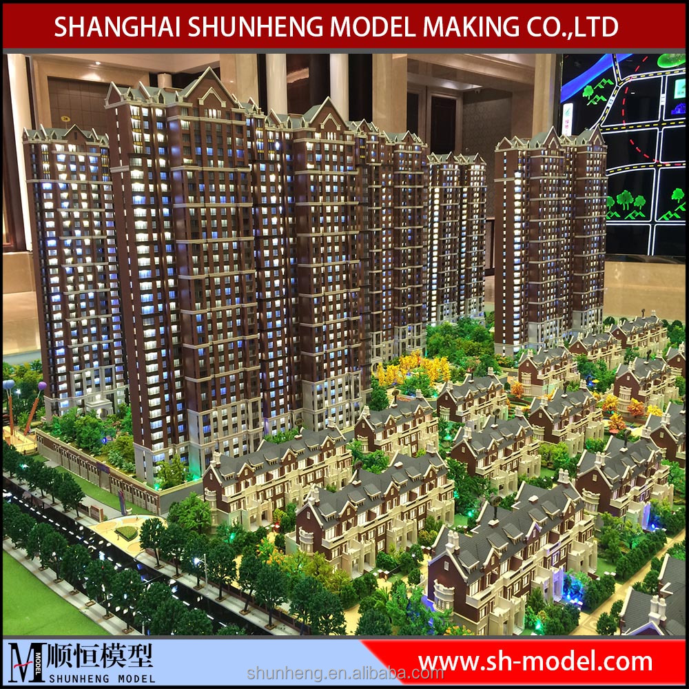 high rise residential building model/architecural model making for real estate exhibition