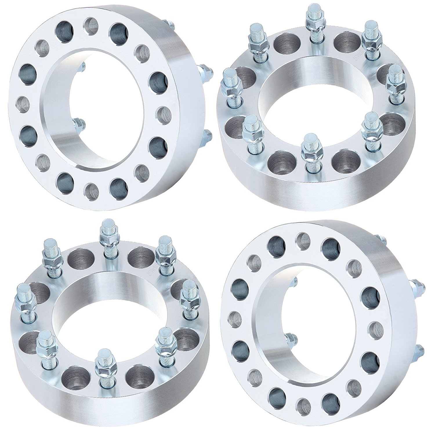 "Wheel Spacer for Chevy,ECCPP 2"" 4PCS 8x6.5 117mm Wheel Spacers Fit GMC Savana/Sierra/C3500 Chevrolet C2500 Chevrolet Avalanche with 14x1.5 Studs"