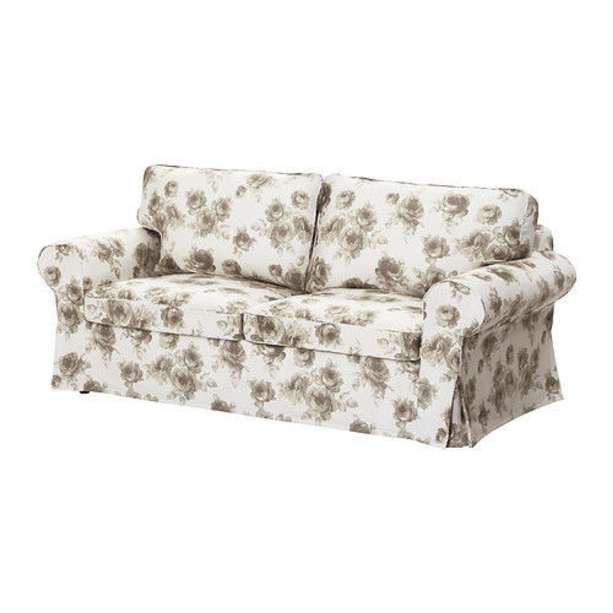Get Quotations · Ikea Ektorp Slipcover For Sofabed Norlida White Beige  502.266.62 Sofa Bed Cover