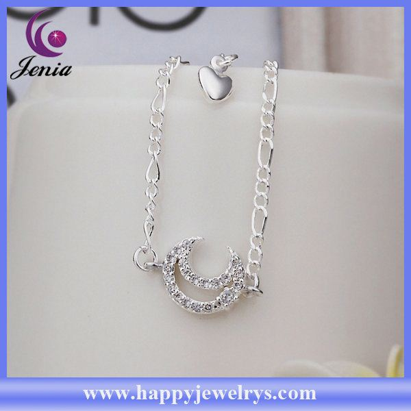 Newest arrival fashionable design 925 silver anklet hotwife anklets CA022
