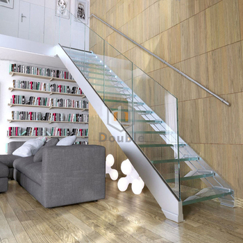 Charmant Plexiglass Stairway Glass Railing For Stairs Handrail Glass Staircase