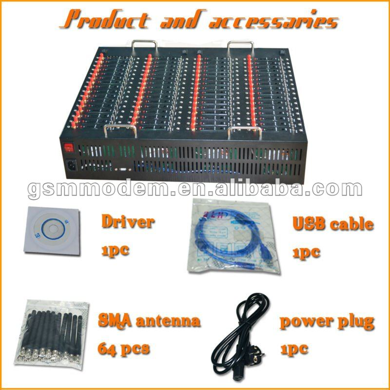 Low price multi sim modem 64 port gsm modem pool  sms modem for bulk sms
