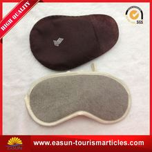 cheap polyester eyemask travel kit eye mask neck pillow disposable eye sleep mask on board