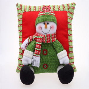 Custom Lovely father christmas fabric throw pillow plush stuffed car back cushion decorative pillow