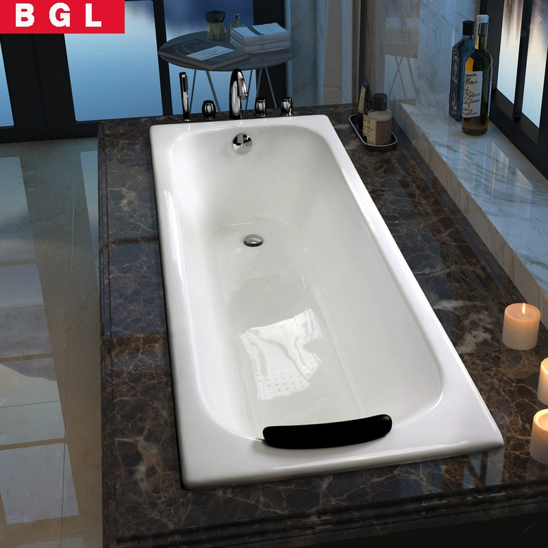 Hotel Project Cast Iron Bathtub Shower Tray 1.5m One Person Hot Tub ...