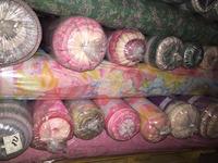 Stocklot Poly dyed printed Chiffon fabric