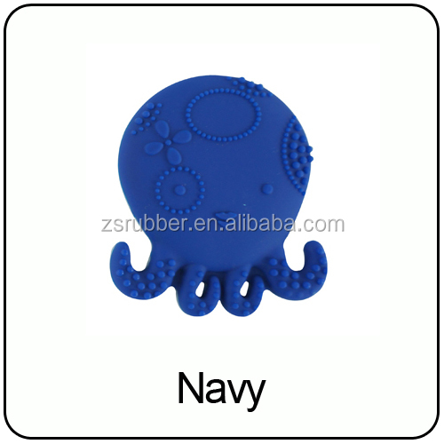 New Design Food grade FDA approved infant teether toys teething baby little octopus