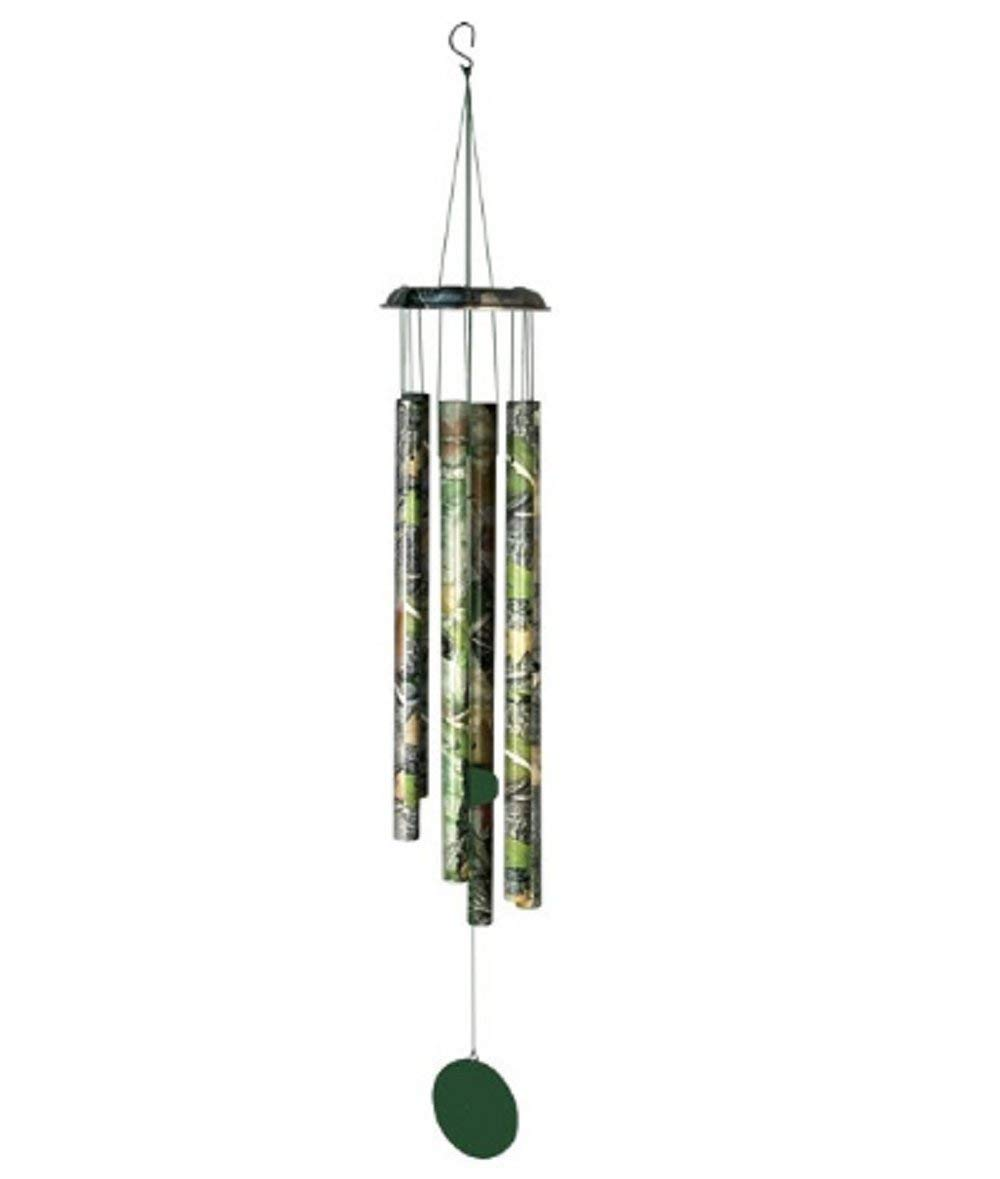 MyEasyShopping 20 in. Aluminum Wind Chime, Camo - Wind Aluminum Chime Inch Chimes New Outdoor Garden Tubes Large Wood Note Windchimes 3 W 5 Decor Silver - Home Garden Hanging Decoration