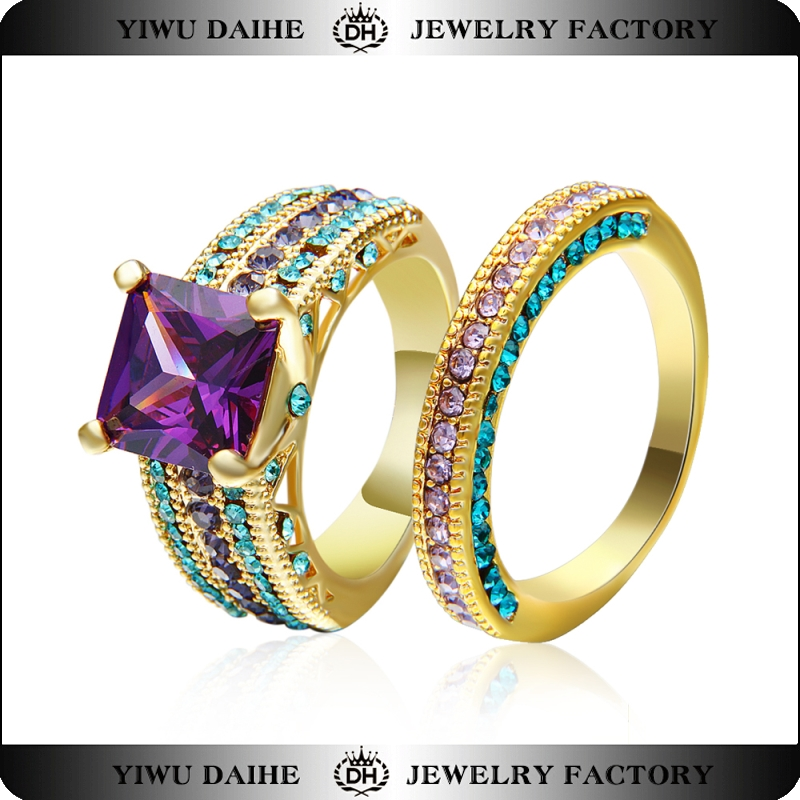 Daihe 18K Gold Filled Cubic Zirconia Ring for ladies