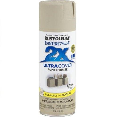 Rust-Oleum 249080 Painter's Touch Multi Purpose Spray Paint, 12-Ounce, Satin Fossil
