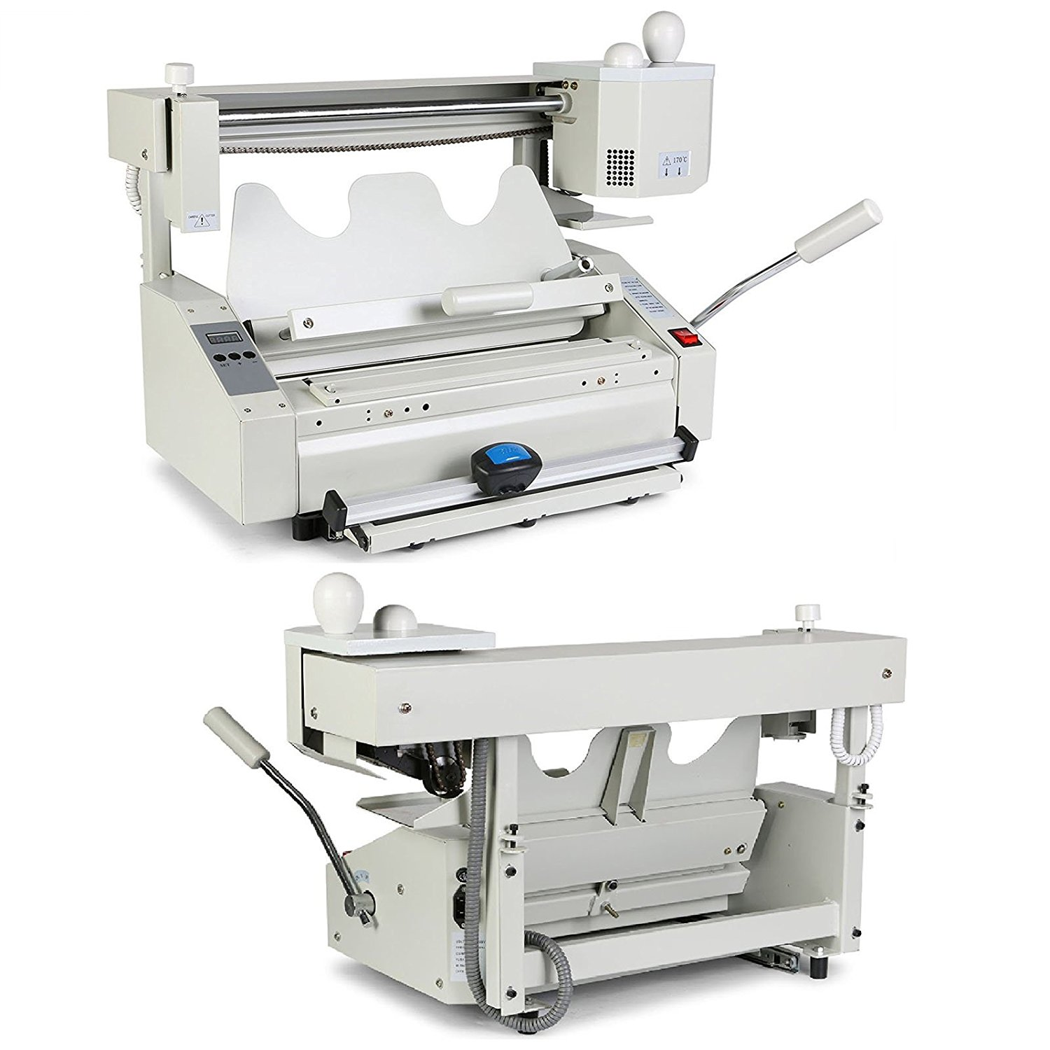 Superland Binding Machine 4 In 1 Desktop Manual Hot Melt Glue Book Binder Wireless Hot Glue Book Binding Machine for Binding Books Albums Notebook (Binding Machine)