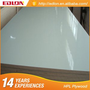 Edlon Wood Products 16mm white glossy formica HPL Laminated Plywood