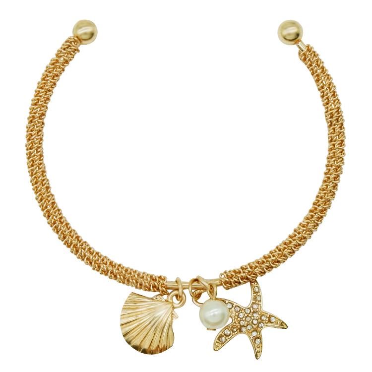 823ac463ae68 Venta al por mayor de moda de lujo brillante brazalete de diamantes de oro  estrella de