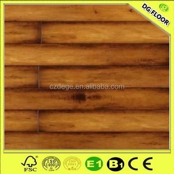 French Bleed Oak Wood Pvc Laminate Flooring Plank Crystal Surface