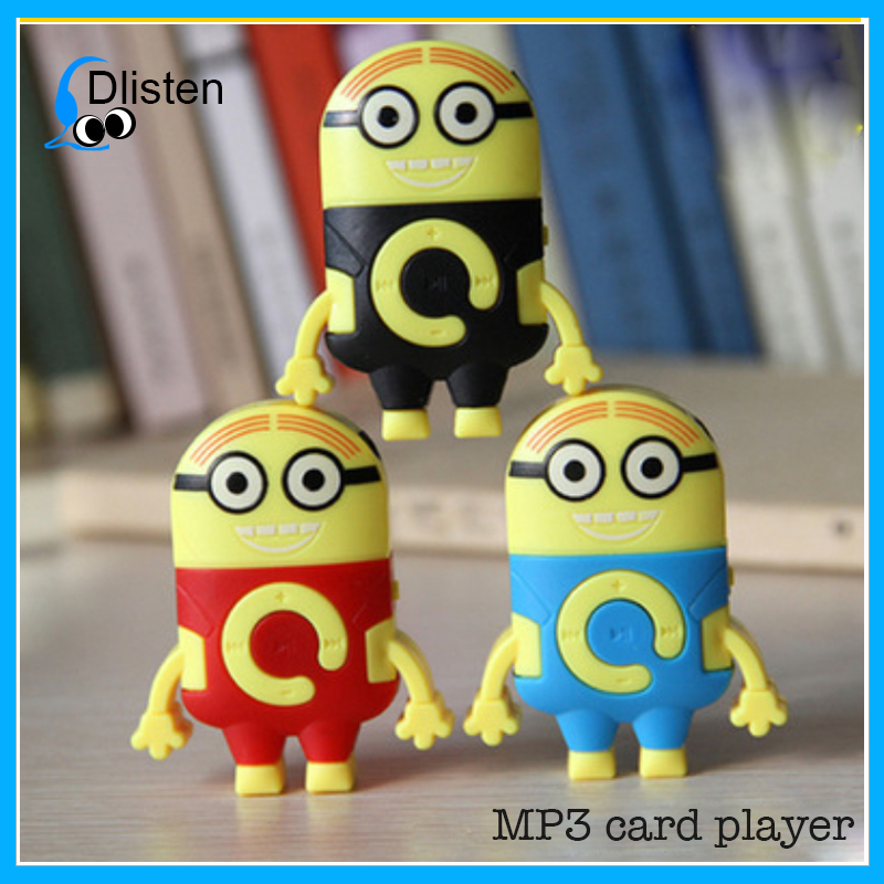 Newest and hottest cute minion shaped digital mp3 player with custom logo