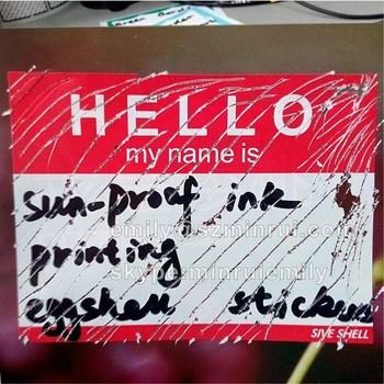 Custom Hello My Name Is Eggshell Graffiti Stickers Printing Personalized Private Vinyl Sticker