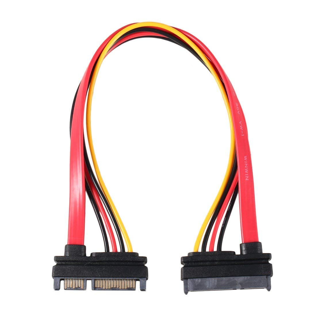 7+15 Pin Sata Cable, Serial SATA Data Power Combo Extension Cable 1pc Serial Power Adapter Cable TA SATA to HDD Cable
