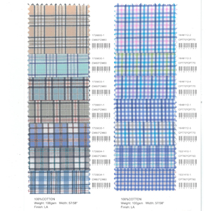 Luthai textile 2019 Spring&Summer 100% cotton check yarn dyed gingham check fabric collection