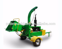 Diesel engine small wood chipper tree branches cutting machine with CE