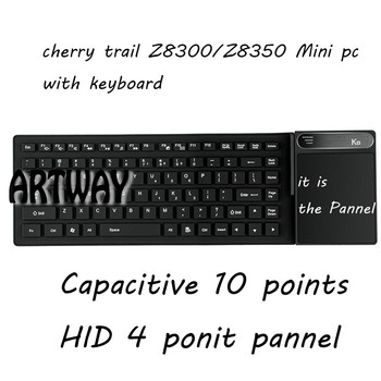metal case windows10 mini pc with keyboard tv box CPU intel cherry chail Z8350 ROM 4G ROM 64GB stream media mini pc