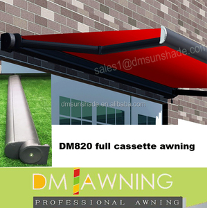 Retractable Folding Fabric Roof Electric full cassette Awning
