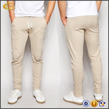 Ecoach latest fashion style long length Three pockets slim fit pants 2016 Wholesale beige color men skinny joggers pants