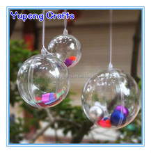 80mm Clear Acrylic Fillable Christmas Plastic Ornament Baubles