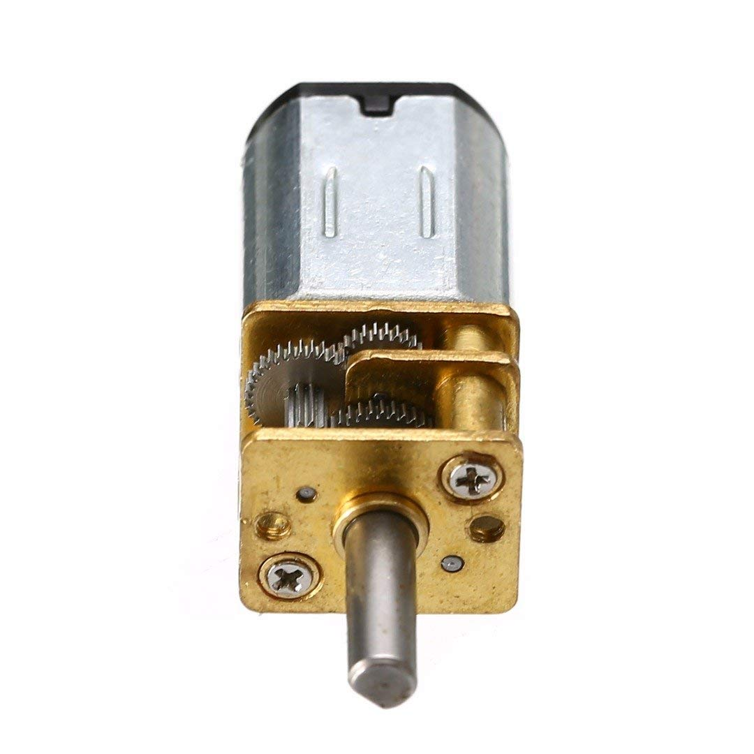 ERTIANANG 1pc DC 6V 30RPM N20 Micro Speed Reduction Gear Motor with Metal Gearbox Wheel 30RPM