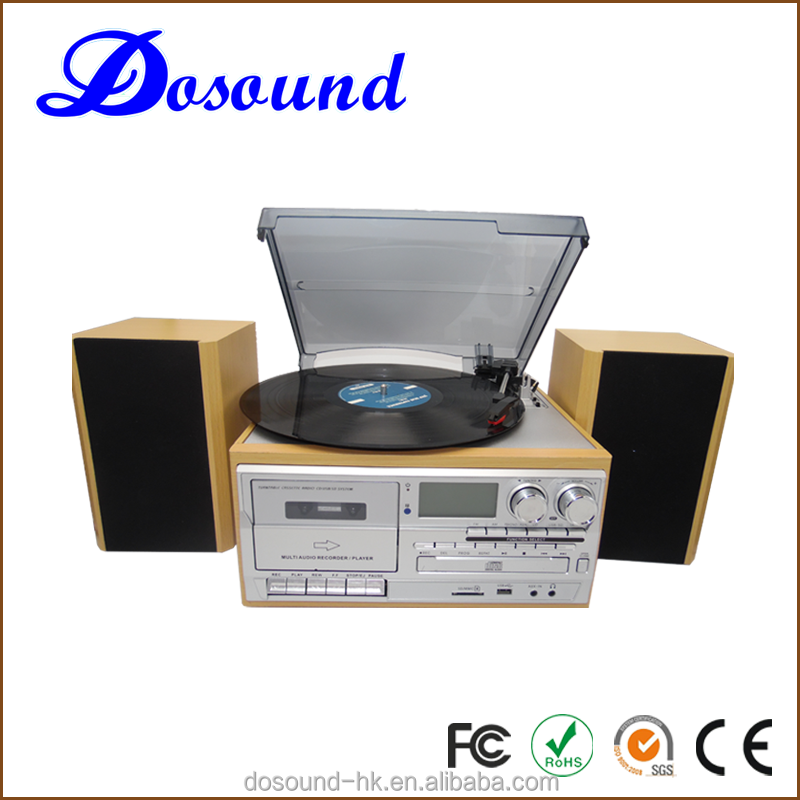 2016 home furniture decoration 6 in 1 turntable disc music box