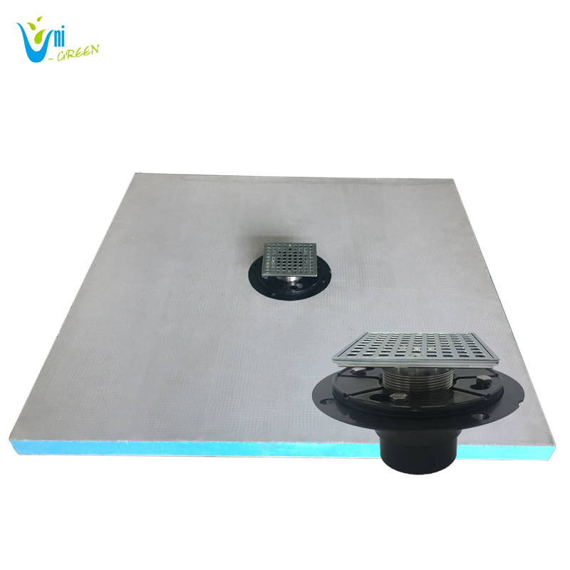 XPS shower base with aluminum shower drain grate and ABS shower drain base export to America
