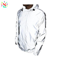 Custom 3m reflective safety jacket Hoodie ultra lightweight 3M high visibility In dark Rain Wind Proof For Running